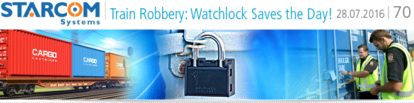 Train robbery: Watchlock saves the day!