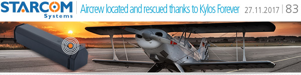 Aircrew located and rescued thanks to Kylos Forever
