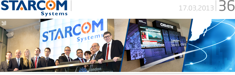 Starcom Systems at the London Stock Exchange